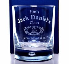 Personalised NEW JACK DANIELS Glass Tumbler Gift For Fathers Day/Dad/Daddy