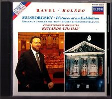 Riccardo CHAILLY: MUSSORGSKY Pictures at an Exhibition RAVEL Borelo DEBUSSY CD