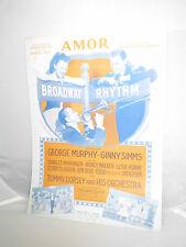VTG Sheet Music: Amor From Broadway Rhythm 1943 by Skylar & Ruiz & Mendez