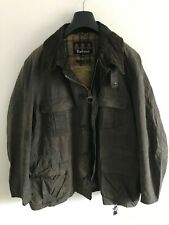 Mens Barbour Silbury wax jacket Grey coat 54 in size 2XL/3XL Hunting Style