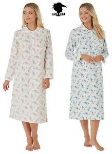 Warm Long Sleeved Wincyette Brushed Cotton Nightdress  Nightie by Lady Olga