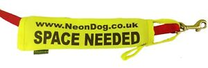 Neon Yellow Dog Space Needed Lead slip cover dogs need space nervous i anxious