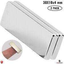 2pcs Strong 30x10x4mm Rare Earth Neodymium N35 Rectangular Bar Powerful Magnets