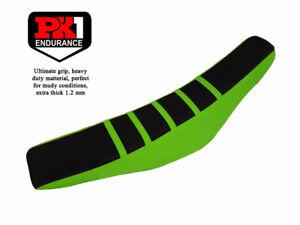 PK1 SEAT COVER KAWASAKI KXF 450 16 - 18/KXF 250 17-19 BLACK/GREEN WITH STRIPES