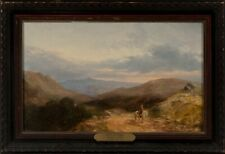LISTED Ralph Stubbs Horseman in Mountain Landscape Old Antique Oil Painting NR