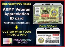 ARMY Veteran (Appreciation) ID Card / Badge - Military - United States - USA Vet