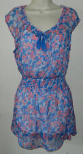 Women Hollister Floral Multi-Color Sleeveless Casual Sheer Dress Size M