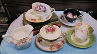 Vintage Lot of 4 Tea Cups Saucers & Creamer Bone China Occupied Japan England