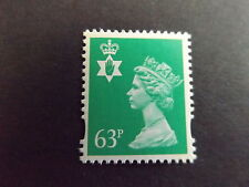 GB QEII Northern Ireland. SG ni77 63P Light Emerald 2B. Machin regionale