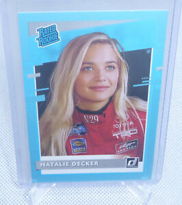 2021 Panini Donruss NASCAR Natalie Decker Blue SP Rookie Card #34 NICE CARD
