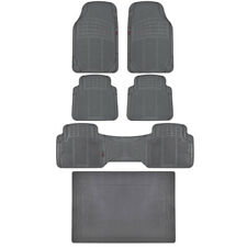 Gray Rubber Floor Mats & Liner - For Vehicles w/ 3 Row Seating MOTORTREND