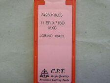 Gewindeplatten von CPT, 11ER 0,7 ISO MXC