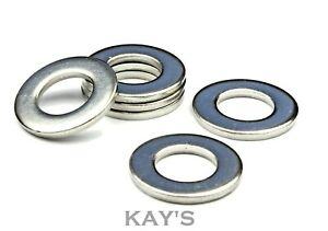 FORM A FLAT WASHERS TO FIT METRIC BOLTS & SCREWS A2 STAINLESS STEEL M1.6 - M30
