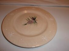 """HOME china NORTHWOODS COLLECTION pattern SALAD PLATE 8"""" Pine Cones"""