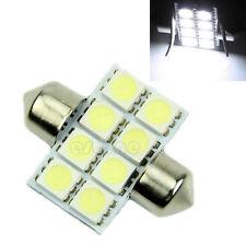2 x 31mm 5050 8 SMD LED Panel Festoon Dome Light Car Auto Interior Bulb White