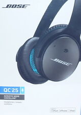 Bose QC25 Accoustic Noise Cancelling Headphones Black New