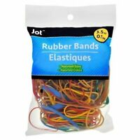 Jot 600 Pcs Rubber Bands Assorted Colors & Sizes 3.5 oz 2 x 300 Bag FREE SHIP