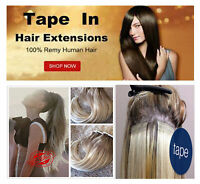 Tape IN Straight Invisible Real Remy Human Hair Extension Full Head Invisible US