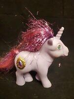 Vintage 1987 G1 My Little Pony Hasbro MISTY Unicorn-Princess Jewel/Tinsel--RARE
