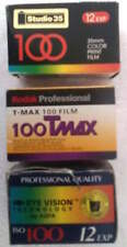 Mixed lot 3 rolls 35 mm 100 film Kodak Professional AGFA Studio 35 exp 2002-2005