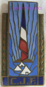 IN19493 - C.J.F, Insigne Général, bronze émail, dos grenu pastille ajourée liss
