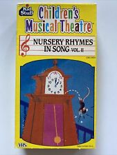 Children's Musical Theatre Nursery Rhymes in Songs Volume 2 VHS 1987 Vintage