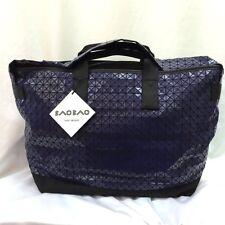 BAO BAO ISSEY MIYAKE Mens Weekender Gloss Blue Sport Shoulder Carry Bag Japan