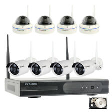 Vcamdo Home Wireless Surveillance Security Camera System with 1TB Hard Drive HDD