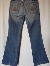 WOMEN'S JEANS 7 FOR ALL MANKIND BOOTCUT STRETCH SIZE 12 LEG 31.5 FREE POSTAGE
