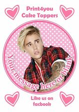 ND3 Justin Bieber Beiber personalised round cake topper icing