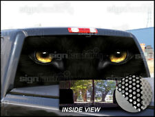 P202 Black Panther Rear Window Tint Graphic Decal Wrap Back Pickup Graphics