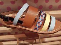 VANESSA WU été 2017 : sandales plates multi-brides neuves, étiquetées valeur 45€