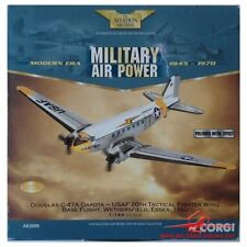 Corgi AA30006 Douglas C-47 Skytrain USAF 20 TFW AB Flight POLIERT Metall Effect