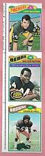 3 CARD UN-CUT PANEL WALTER PAYTON BEARS HOF 1977 TOPPS FACTORY SHEET 360 NFL ABC