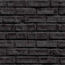 VIP Negro Ladrillo Papel Pintado Por Arthouse 623007