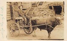 RPPC Happy Hollow Hot Springs, Arkansas Man in Cart Real Photo Postcard ca 1910s