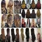 USA Real Thick 25'' Long Straight Curl Wavy Ombre Hair Wig 3/4 Full Wigs  Blonde