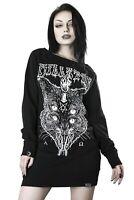 Killstar Juju Gothic Punk Cat Pentagram Devil Satanic Sweater Dress KSRA000812