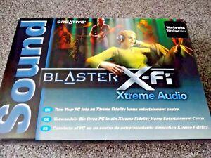 CREATIVE BLASTER X-FI XTREME AUDIO SOUND CARD HOME PC GAMING MUSIC MOVIES EX CON