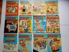 x12 VINTAGE BEANO Comic Library No 58-69 1984-85 British Comics Libraries Laugh
