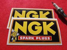 Pair NGK spark plugs man stickers