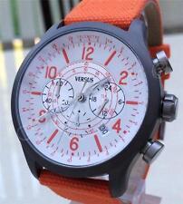 VERSACE Watch AVIATOR Chronograph Men's Versus by Versace Collection Orange New