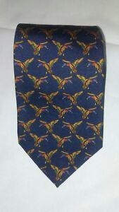 Polo By Ralph Lauren Vintage Tie Flying Ducks 100% Silk.  57L x 3.75W   (T1)