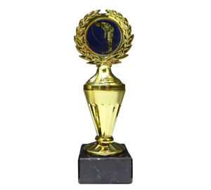Golf/Minigolf-Pokal mit blauem Emblem und Ihrer Wunschgravur (Biso1)