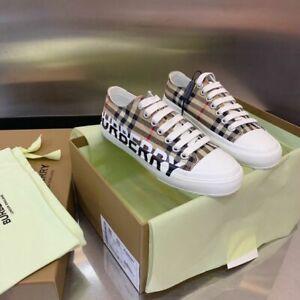 Burberry logo-print cotton canvas sneakers