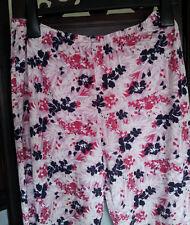 M&S Women's Pajama Bottom Pink Mix Size 8-10