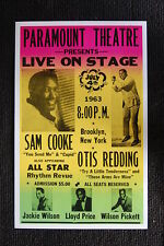 Otis Redding Sam Cooke 1963 Tour Poster Paramount Theat