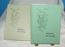 MEASURE FOR LIVING Roy Z. Kemp CHRISTIAN ESSAYS AND POEMS DEVOTIONS W/ ORIG BOX