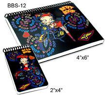 Setof2 Lenticular Betty Boop Motorcycle Black 4x6in2x4in Notebook #BBS-12#