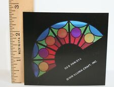 1' Scale Stained Glass Window   half round